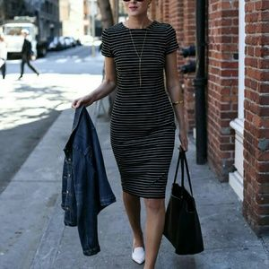 Ann Taylor striped sheath dress